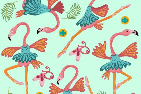 Dancing Flamingo's
